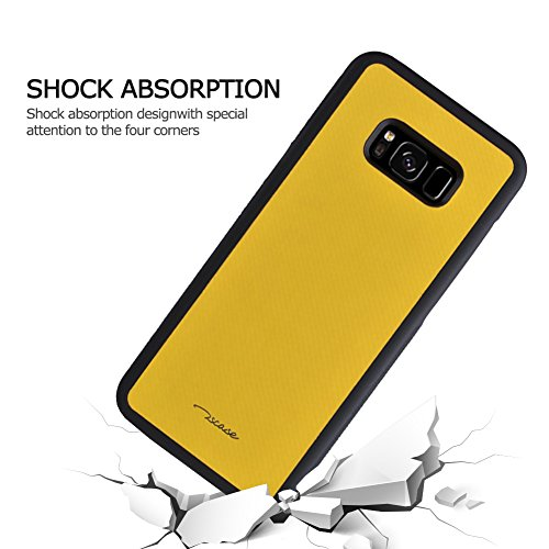 "iPhone 8 Plus/7 Plus/6 Plus Case, VMAE Ultra Light Shockproof Cover with Hard PC & Soft TPU Bumper Cushion Slim Anti Slip Brushed Rugged Grip Back Case for iPhone 8 Plus/7 Plus/6 Plus 5.5"" (Yellow) Yellow"