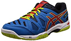 Asics Mens Gel-Game 5 Methyl Blue, Orange and Lime Tennis Shoes - 7 UK/India (41.5 EU) (8 US)