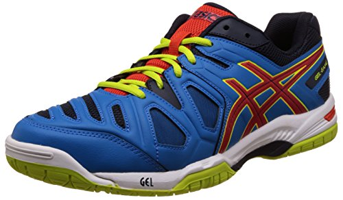 Asics Men\'s Gel-Game 5 Methyl Blue, Orange and Lime Tennis Shoes - 6 UK/India (40 EU) (7 US)