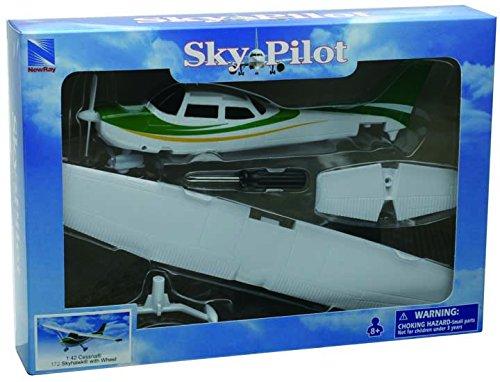 New Ray - 20665 - Véhicule Miniature - Cessna - Skyhawk avec Roues Modèle Kit - 172 0783324788884