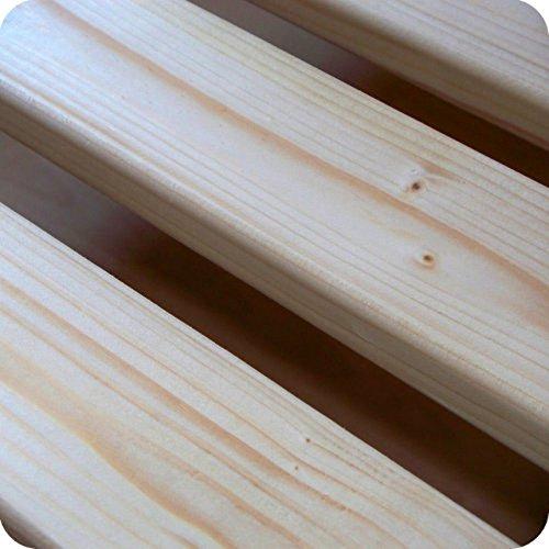 TUGA-Holztech 30mm Rollrost Lattenrost 100x220cm bis 300KG Flächenlast Qualitätsarbeit aus Deutschland unbehandelt frei von Chemie Naturprodukt