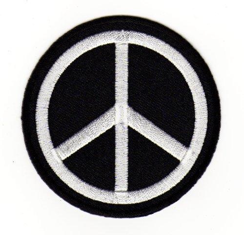 Aufnäher Bügelbild Aufbügler Iron on Patches Applikation Peace Zeichen Frieden Liebe