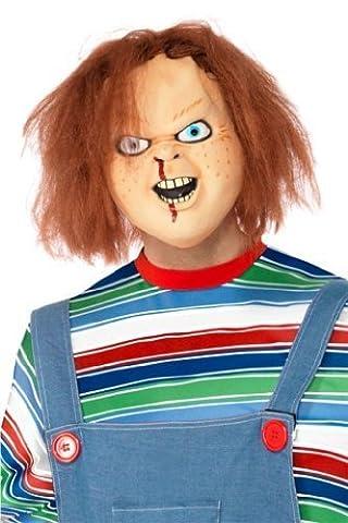 Smiffy's Erwachsene Offiziell Chucky Halloween Kinder Play Maske (Chucky Maske Kostüm)