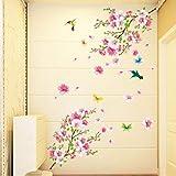 Dragon868 Grandi Fiori Di Ciliegio Fiore Farfalla Albero Adesivi Muro Arte Decalcomania Home Decor