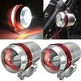 AUDEW 2x Motorrad LED Scheinwerfer 30W U3 LED helle Scheinwerfer Lampe Spot Leuchte Rot