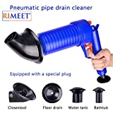 RIMEET® High Pressure Air Drain Blaster Pump Plunger Sink Pipe Clog Remover Toilets Bathroom Kitchen Cleaner (Random Color, Standard Size Set of 1 Pcs)