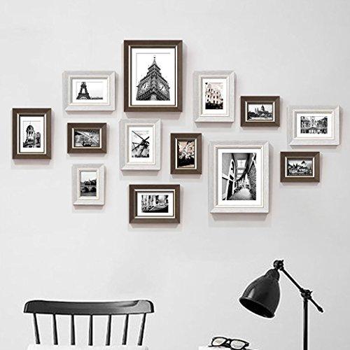 Dekorrahmen Moderne Kunststoff Bilderrahmen Wand Sets Von 13, hängen Bilderrahmen Wand Wohnzimmer Schlafzimmer Kombination Bilderrahmen Wand Sofa Hintergrund Bilderrahmen Wand ( Farbe : A , größe : 13frames/123*72CM )