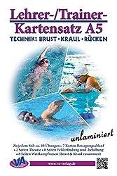 Basis-Kartensatz Brust-Kraul-Rücken, unlaminiert: Kombi-Pack 1 (Lehrer-/Trainer-Kartensatz unlaminiert / Arbeitskarten für den Schwimmunterricht)