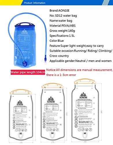 Imagen de bolsa de agua plegable aonijie de 1l/1,5l/2l/3l para  de hidratación, para correr, actividades al aire libre, montañismo alternativa