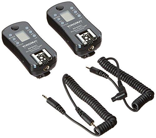 Yongnuo RF605C–Kit-2kabellose Fernauslöser für Canon (2,4GHz, 100m, AAA), Schwarz