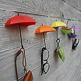 livdat 6PCS Haken Kunststoff Küche, Waschbeckenunterschrank Zeichnen Tuch Handtuch Bag Kleiderbügel platzsparend Organizer sortiert Farbe Regenschirm Form