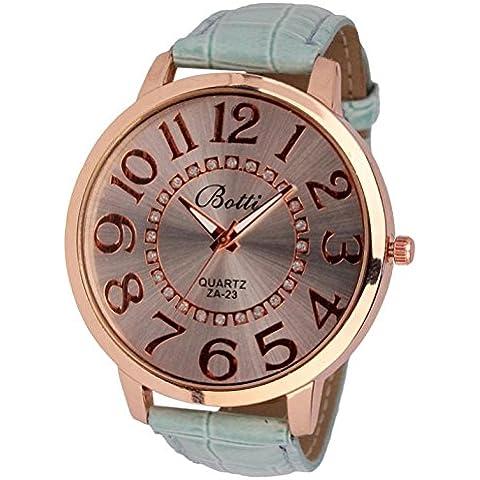 lesmartzyn (TM) numeri d' oro quadrante donne elegante vestito diamante orologio da donna Pretty in pelle al quarzo orologio da polso
