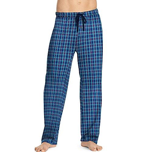 hanes-pantaloni-pigiama-uomo-turq-red-blue-plaid-medium