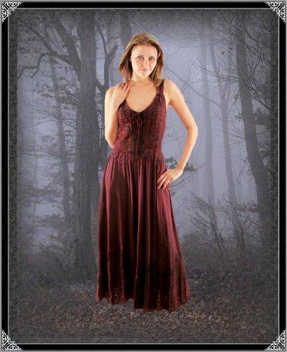 Bäres Tageskleidung - Damen Langes Gothic Kleid Denise Weiß