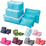 Panzl 6 Set Travel Storage Bags Multi-functional Storage bag,Travel Packing Pouches, Luggage Organizer Pouch Travel Organizers Packing Cubes Laundry Bag Luggage Compression Pouches (Color May Vary)
