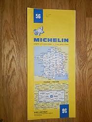 carte routière michelin n°56 PARIS - REIMS