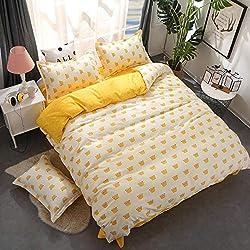 BFMBCH Aloe Coton Couvre Quatre pièces Housse de Couette Double étudiant Famille hôtel literie F2 180cmx220cm