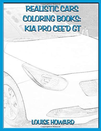 Realistic Cars Coloring books: Kia pro cee'd GT