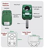 2er-Set AngLink Solar Katzenschreck Ultraschall abwehr mit Batteriebetrieben und Blitz - 6