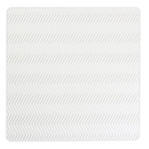 InterDesign Chevron Kitchen Silicone Countertop Dish Drying Mat - Medium, White