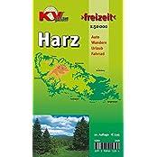 """Harz: 1:50.000, Der """"ganze"""" Harz von Goslar bis Sangerhausen und Osterode bis Quedlinburg, Freizeitkarte incl. Rad- und Wanderwegen (KVplan Harz-Region)"""