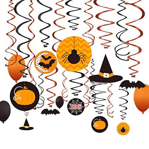 Toyvian Halloween Hanging Swirl Decken Dekoration PVC Luftschlangen für Halloween Party Decor 30 Stück