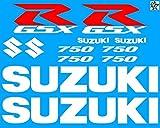 Set Stickers Aufkleber Suzuki GSXR 750 Aufkleber ca. 30 x 20 Aufkleber Bike Motorrad Felge Felgen Innenrandaufkleber