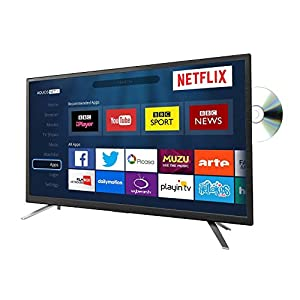 Sharp LC-24DHG6131K 24 Inch Smart LED TV with DVD Combi HD Ready 720p Built In Freeview HD USB Media PVR