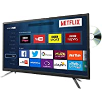 """24"""" Smart LED TV with DVD Combi HD Ready 720p Built In Freeview HD USB Media PVR"""