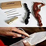 Malayas® Kit Couture/Cuir,Réparation de Chaussure/Semelle à Main,Aiguilles à Coudre Remplaçable avec Poignée + Fils Cirés en Nylon Pour Réparer Cuir/Couture/Chaussure