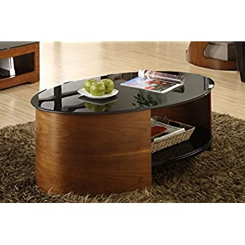 Jual JF301 Walnut Curved Coffee Table Amazoncouk Kitchen Home