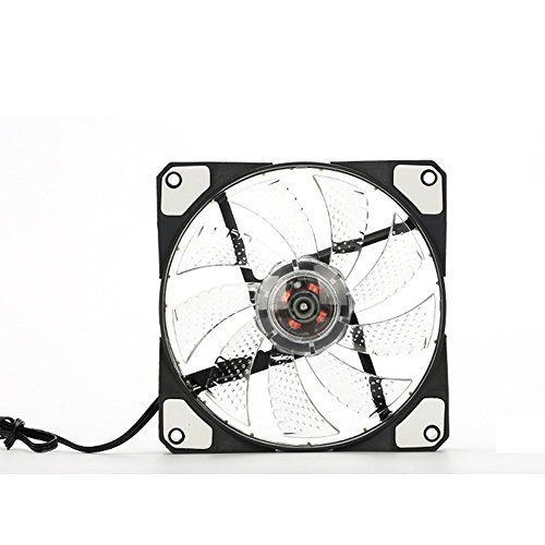 ZEELIY Silent Lüfter für Computergehäuse, CPU-Kühler und Kühler Ultra High Quiet Airflow 15LED Computer Gehäuselüfter 15 LED Licht ziemlich 120mm DC 12V 4Pin PC Computer Gehäuse Kühlung Lüfter Mod (Mod Kinder Kleidung)