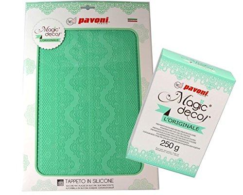 Magic Decor Set 2 tlg., Silikonmatte inkl. 250g Magic Decor Pulver, Pavoni