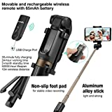 Selfie Stick Tripod with Remote for iPhone 6 6s 7 7plus AndroidSamsungGalaxy 3.5-6 inchScreen - Blitzwolf 3 in 1 Extendable Monopod Mini PocketWireless SelfieStick 360 ° Rotation