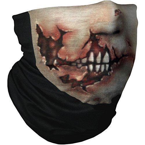 Campteck bandana tubolare multifunzione sciarpa scaldacollo facciale maschera per motociclismo, escursionismo, equitazione, ciclismo ed altro attivitá all'aperto - viso zombie