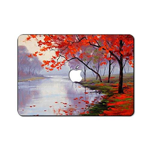 (Ölgemälde Kollektion Hochwertige Ultra Dünn Vorderseite Aufkleber Removeable Top Abziehbild Für MacBook Air 11 Zoll ((Modell: A1370 / A1465) (das ahornblatt treffen im herbst))