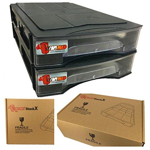 Papimax briques Boîte de Rangement empilable 15 compartiments standard( noir ) âge 6+