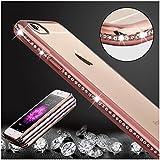 iPhone 6s Plus 6 Plus Caso Claro, KrygerShield® - Peso Ligero De Lujo Del Diamante Súper Delgada Cubierta De Parachoques - Oro Rose