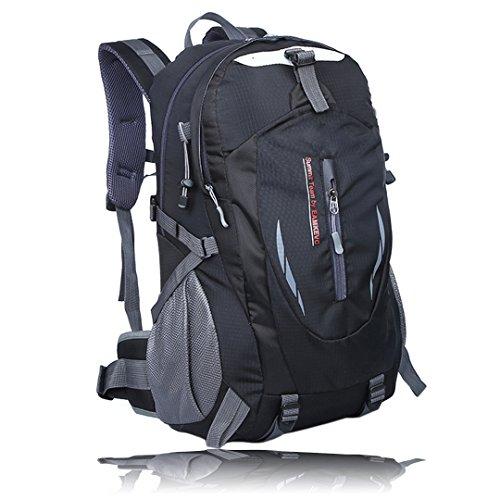 Imagen de hlzdh 40l impermeable  de senderismo de senderismo backpack paquete del alpinismo escalada marcha trekking camping deporte al aire libre acampadas negro