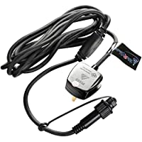 WeRChristmas Main Power Lead for Connectable Lights with BS Plug andFemale Connector, 3 m - Black
