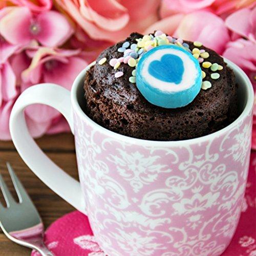 500 g Rocks Herz-Bonbons - süße Tisch-Deko zu Hochzeit Taufe Valentinstag Muttertag Kommunion - Handarbeit zum Naschen - Blau-Weiß - 6