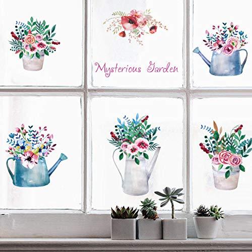 Schöne Bunte Topfblumen Wandaufkleber Garten Dekoration Bonsai Wohnzimmer Kinderzimmer Schlafzimmer Wohnkultur Auf Die Brille