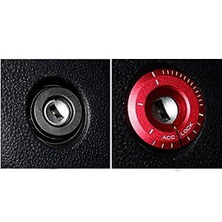 Muchkey® Zündschloss-Abdeckung Autozubehör Dekorations-Ring Schutzabdeckung 1 Stück rot
