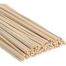 Satinior 100 Piezas Palos de Difusor Reed Varillas de Reed de Rattan de Madera Varillas Difusor de Aroma de Aceite Esencial