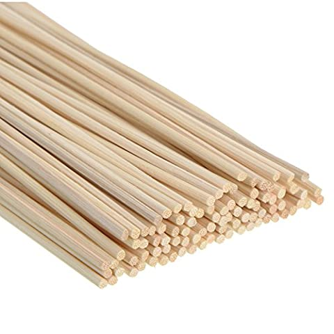 Satinior 100 Pieces Reed Diffuser Sticks Wood Rattan Reed Sticks Essential Oil Aroma Diffuser