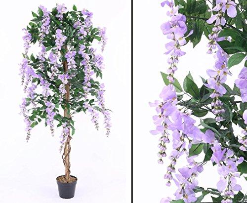 Goldregenbaum mit violetten Blüten 150cm, im Zementtopf - Kunstpflanze Kunstbaum künstliche Bäume Kunstbäume Gummibaum Kunstoffpflanzen Dekopflanzen Textilpflanzen Textilbäume Pflanzen aus Textil Kunststoffpflanzen Plastikpflanze Kunstpflanzenbaum Kunstblumen Deko Blumen -