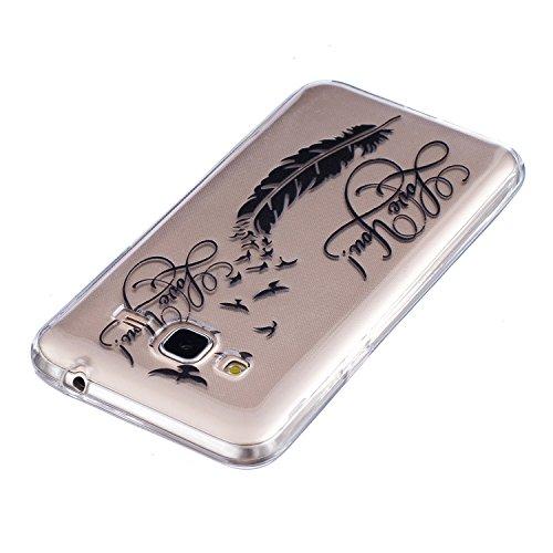 Galaxy J310F Cas, Asnlove Coque TPU Silicone Doux Étui Texture de Transparente Crystal avec Housse Morbido Silicone Ultra Mince Cover Protection de Téléphone Anti-Rayures Antidérapant Case pour Samsun Couleur - 14