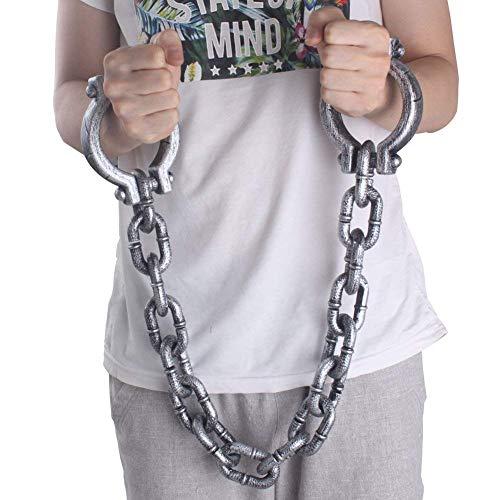 Kunststoff Wrist Fesseln Gefängnis Kette Handschellen für Halloween Kostüm Party Decor Requisiten