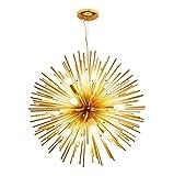 Onfly Lampadario LED tarassaco, Lampada a Sospensione Dorata Lampadario a Sfera, Luce a Sospensione in Alluminio a Forma di Ramo di Fiori (Dimensione : 48cm)