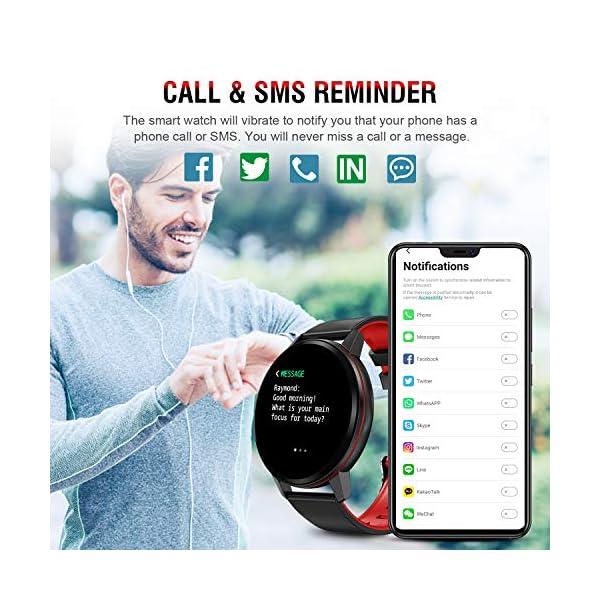 Smartwatch Deporte para Mujer Hombre con Pantalla Completa Táctil Monitores de Actividad Impermeable Outdoor Fitness… 4
